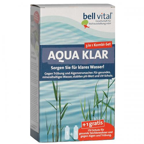 bell vital AquaKlar 3-Phasen-System, Komplettpackung: 2 x 500 ml + 10 Kapseln HuminExtrakt